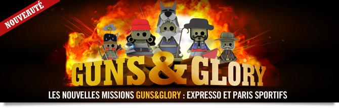 Avec Guns&Glory, c'est un challenge d'un genre nouveau qui débarque sur Winamax !
