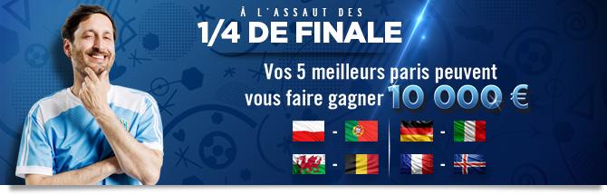 Challenge quarts de finale Euro 2016
