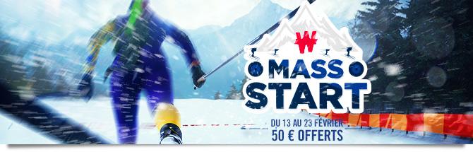Du 7 au 19 février. 50 euros à gagner avec vos paris !