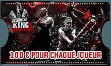 Ticket tournois 100 euros pour chaque joueur
