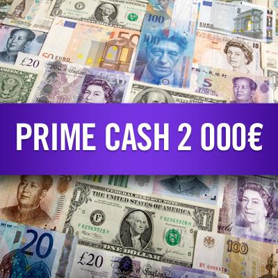Prime cash 2 000 €