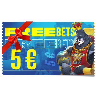 5 € de Freebets à offrir
