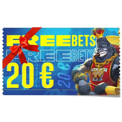 20 € de Freebets à offrir