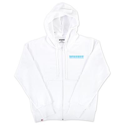 """Sweat-Shirt Zip Homme blanc logo """"Miramax"""" Bleu Ciel <br /> <i><u>(livré en 24h)</u></i>"""