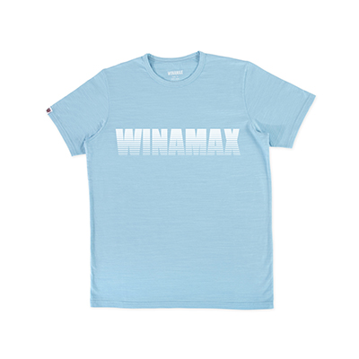 "T-Shirt Homme bleu logo ""Miramax"" Blanc  <br /> <i><u>(livré en 24h)</u></i>"
