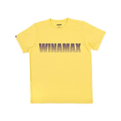 """T-shirt Homme jaune logo """"Miramax"""" Violet <br /> <i><u>(livré en 24h)</u></i>"""