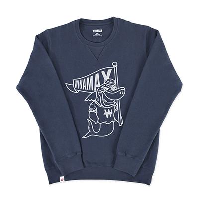 """Sweat-Shirt Crewneck Homme """"Shark""""<br /> <i><u>(plusieurs coloris disponibles)</u></i>"""