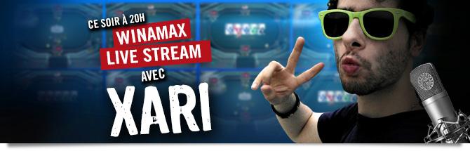 Winamax Live Stream Xari Bandeau