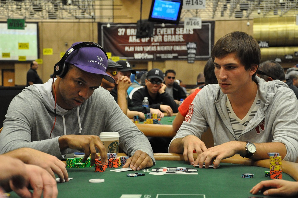 Phil Ivey et Guillaume Diaz