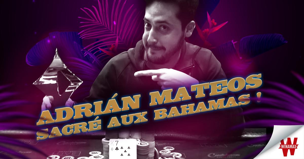 Adrián Mateos sacré aux Bahamas
