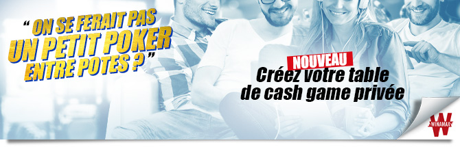 Cash Game privé Bandeau