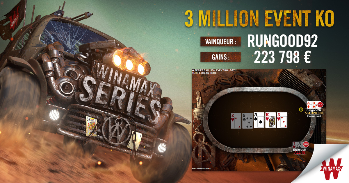 Vainqueur 3 Million Event Facebook