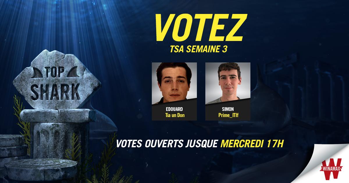 Top Shark Academy Vote Semaine 3