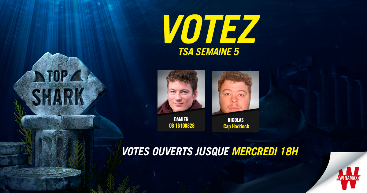 Vote Top Shark Academy Semaine 5