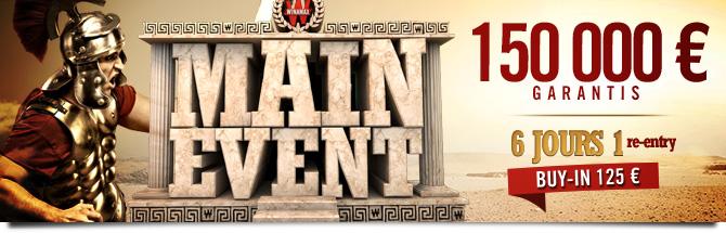 Main Event 150K Bandeau