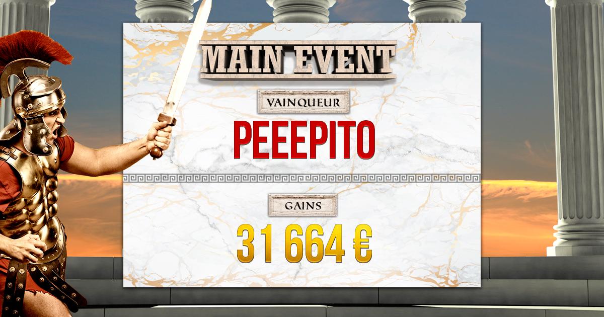 Main Event vainqueur