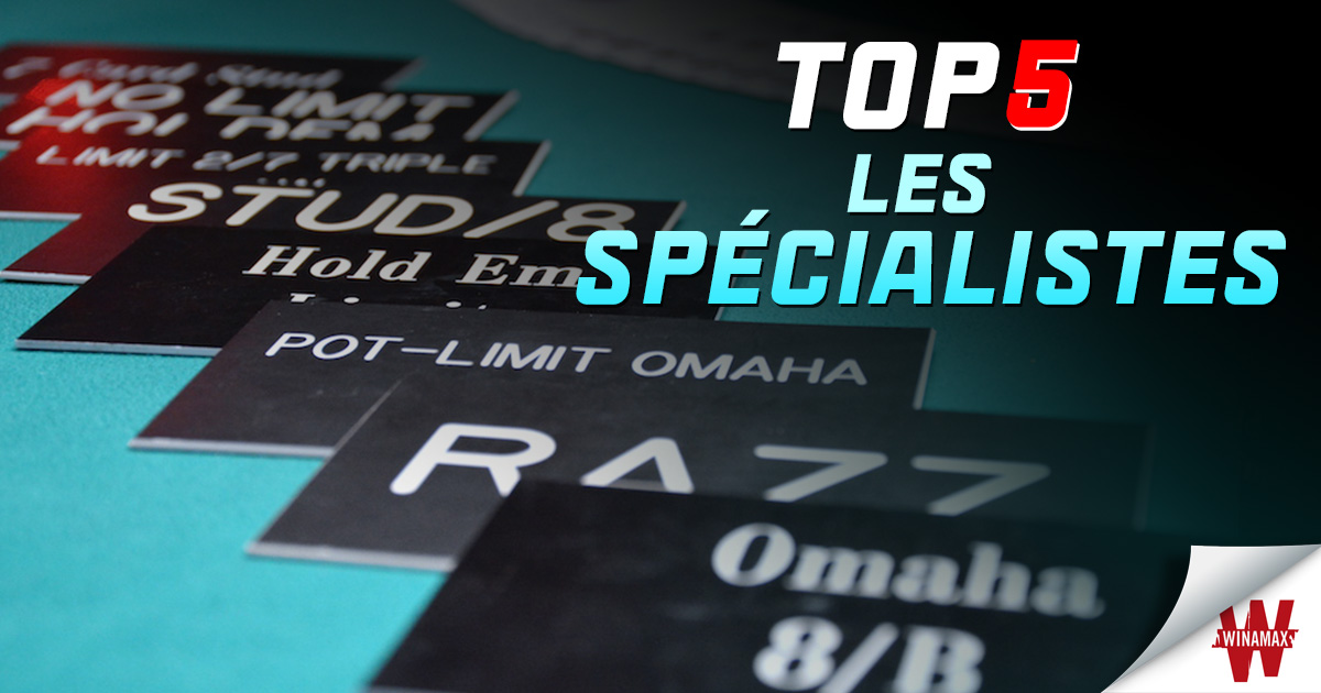 Top 5 Spécialistes