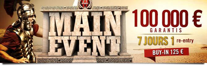 Main Event 100K Bandeau