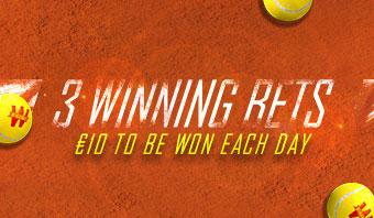 3 Winning Bets