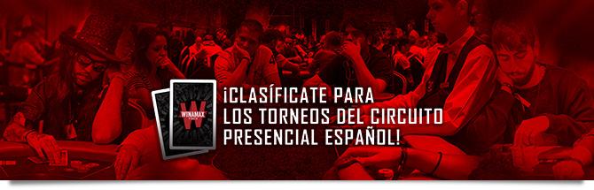 Clasifícate para los torneos del circuito presencial español
