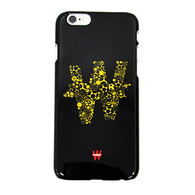 Coque rigide noire et jaune pour iPhone 6