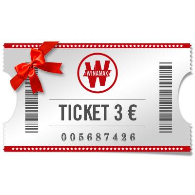Ticket de 3 € à offrir