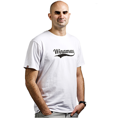 """White Winamax """"Comma"""" T-shirt"""