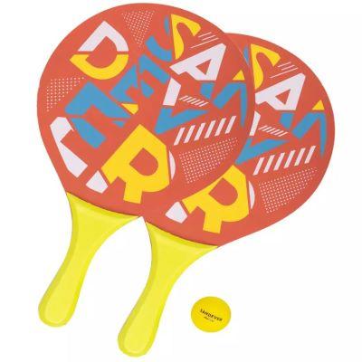 Set de raquettes Beach Tennis Woody rouge