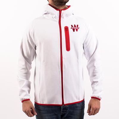 Sweat à capuche zippé homme - blanc