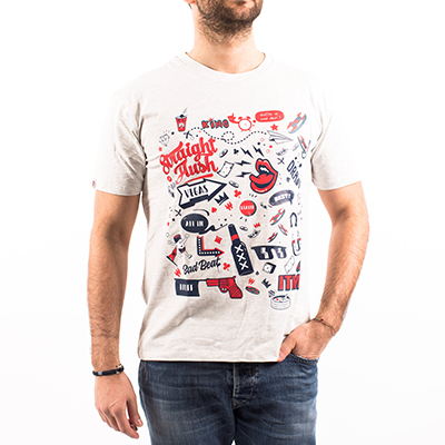 Tee shirt Shuffle up and deal - gris clair