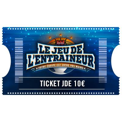Ticket Jeu De l'Entraineur 10 €