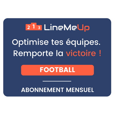LineMeUp - Football - Abonnement 1 mois