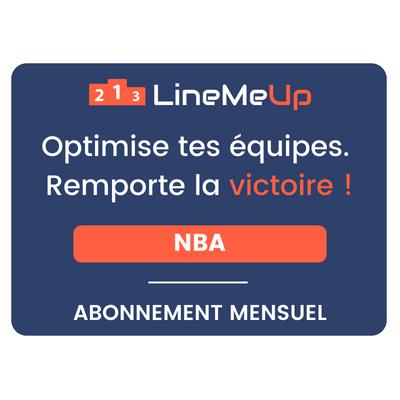 LineMeUp - NBA - Abonnement 1 mois