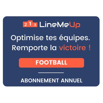 LineMeUp - Football - Abonnement 12 mois