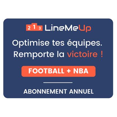LineMeUp - Football + NBA - Abonnement 12 mois