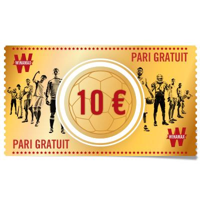 PARI GRATUIT 10 €