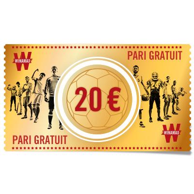 PARI GRATUIT 20 €