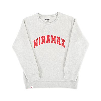 "SweatShirt Femme Gris logo ""Varsity"" Blanc / Rouge"