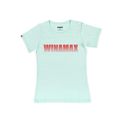 """T-Shirt Femme Vert logo """"Miramax"""" Rouge"""