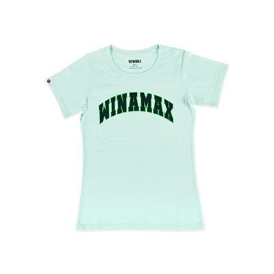 "T-Shirt Femme Blanc logo ""Varsity"" Vert/Noir"