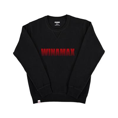 """Sweatshirt Crewneck Homme noir logo """"Miramax"""" Rouge"""