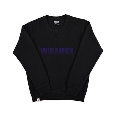"Sweatshirt Crewneck Homme noir logo ""Miramax"" Violet"