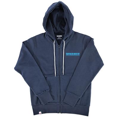 "Sweatshirt Zip Homme bleu logo ""Miramax"" Bleu"