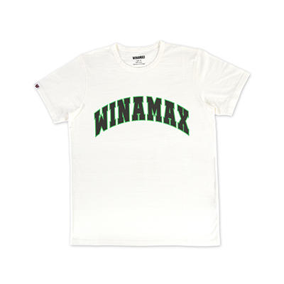 "T-Shirt Homme blanc logo ""Varsity"" Vert/Noir"