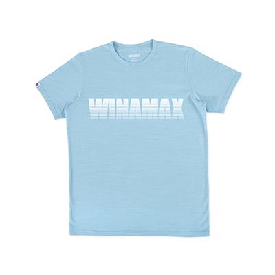 "T-Shirt Homme bleu logo ""Miramax"" Blanc"