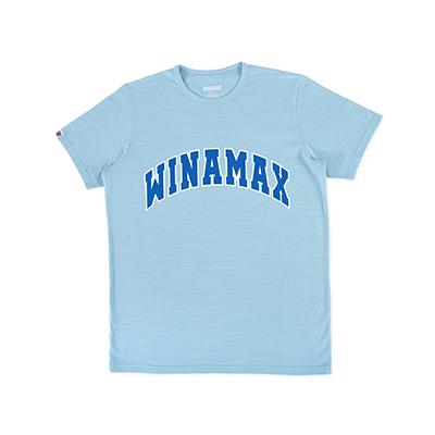 """T-Shirt Homme bleu logo """"Varsity"""" Blanc/Bleu"""