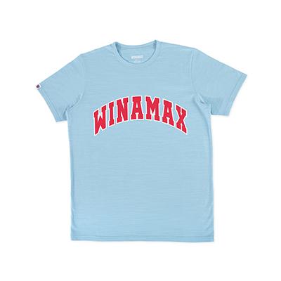 "T-Shirt Homme bleu logo ""Varsity"" Blanc/Rouge"