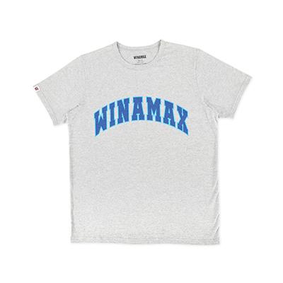 """T-Shirt Homme gris logo """"Varsity"""" Bleu Ciel/Bleu"""