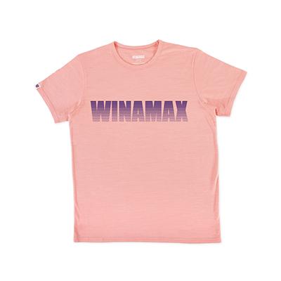 "T-Shirt Homme rose logo ""Miramax"" Violet"
