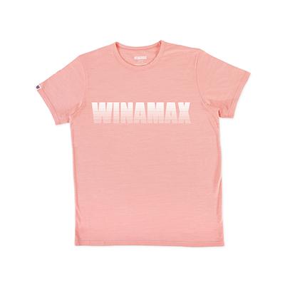 """T-Shirt Homme rose logo """"Miramax"""" Blanc"""